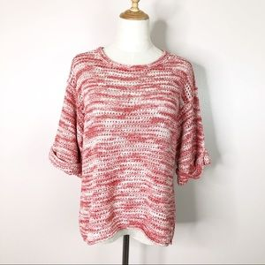 Anthro l Michael Stars Pullover Red White Dye XS/S